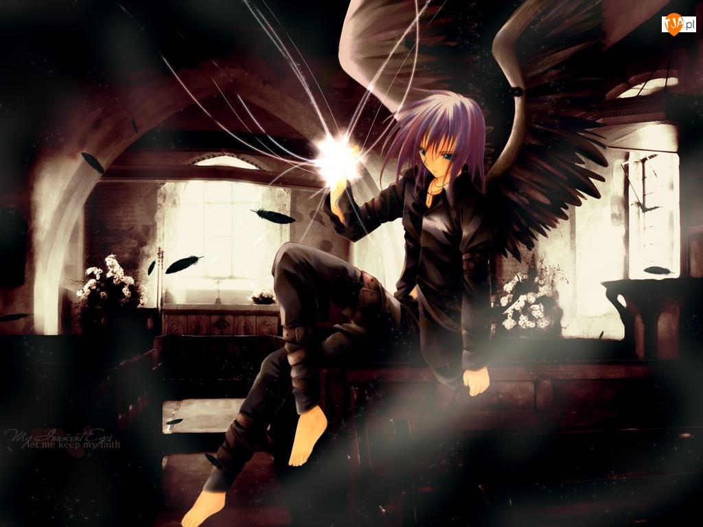 skrzydła, Spiral, kobieta
