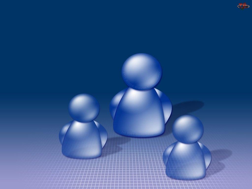 3D, pionki, Wektorowa, niebieskie