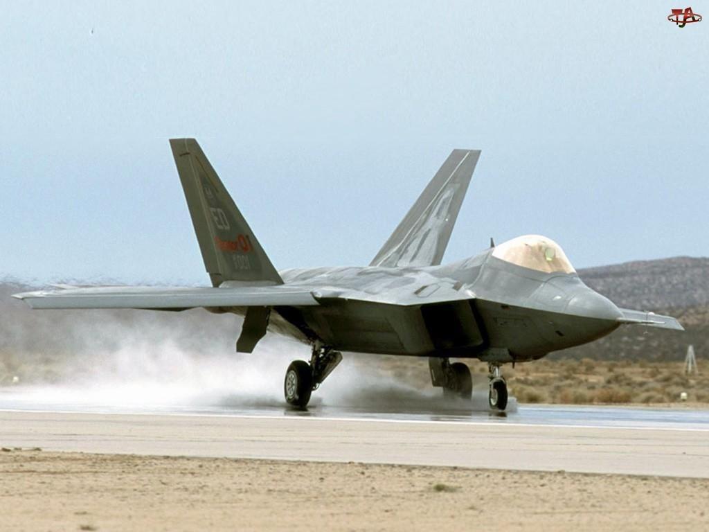 Lockheed F-22 Raptor, Lądujący, Odrzutowiec