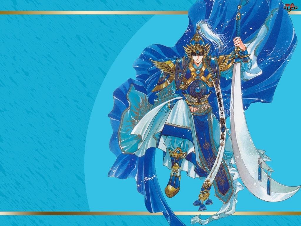 miecz, Soryuden, niebiesko złoty strój