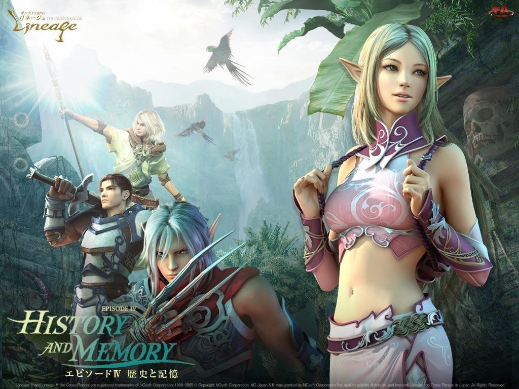 Lineage 2, postacie, kobieta, elf