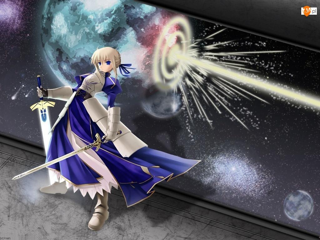 miecze, Fate Stay Night, kobieta