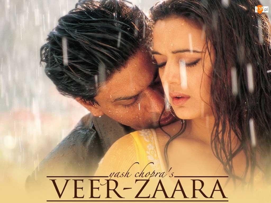 Veer Zaara, Shahrukh Khan, deszcz, Preity Zinta