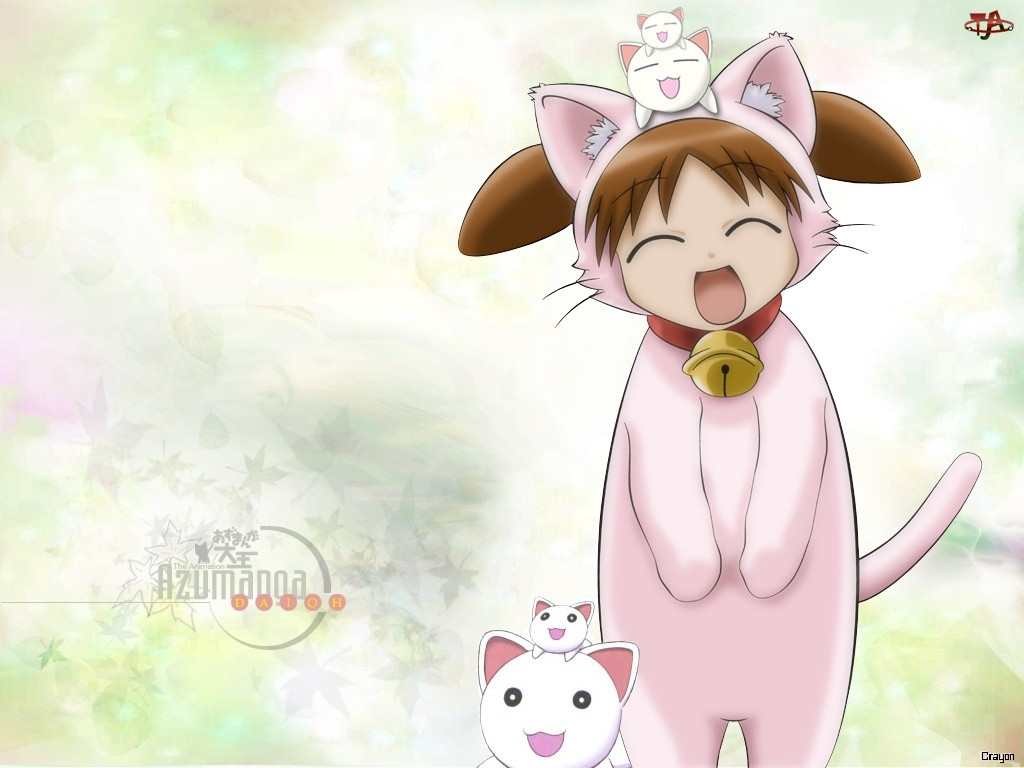 Azumanga Daioh, napis, postać, koty