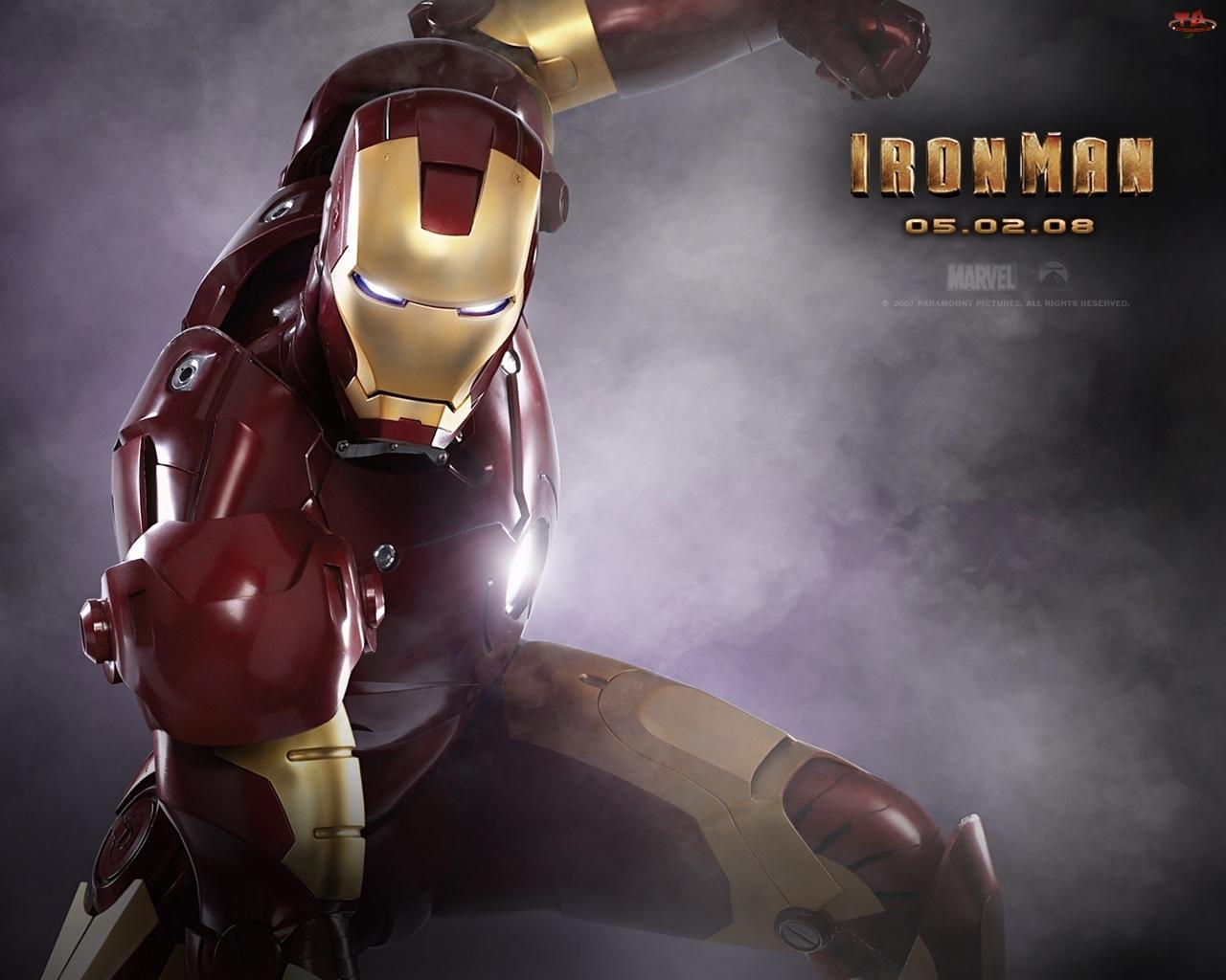 robot, Iron Man, dym