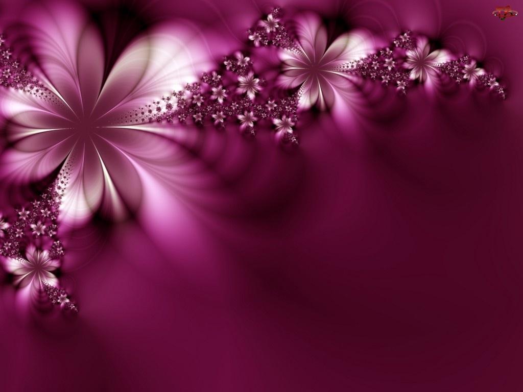 Abstrakcja, Fioletowe, Kwiaty