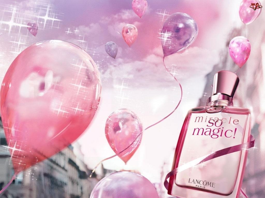 Lancome, perfumy, balony, flakon