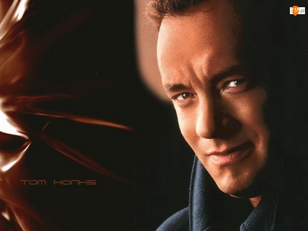 brązowe oczy, Tom Hanks, twarz