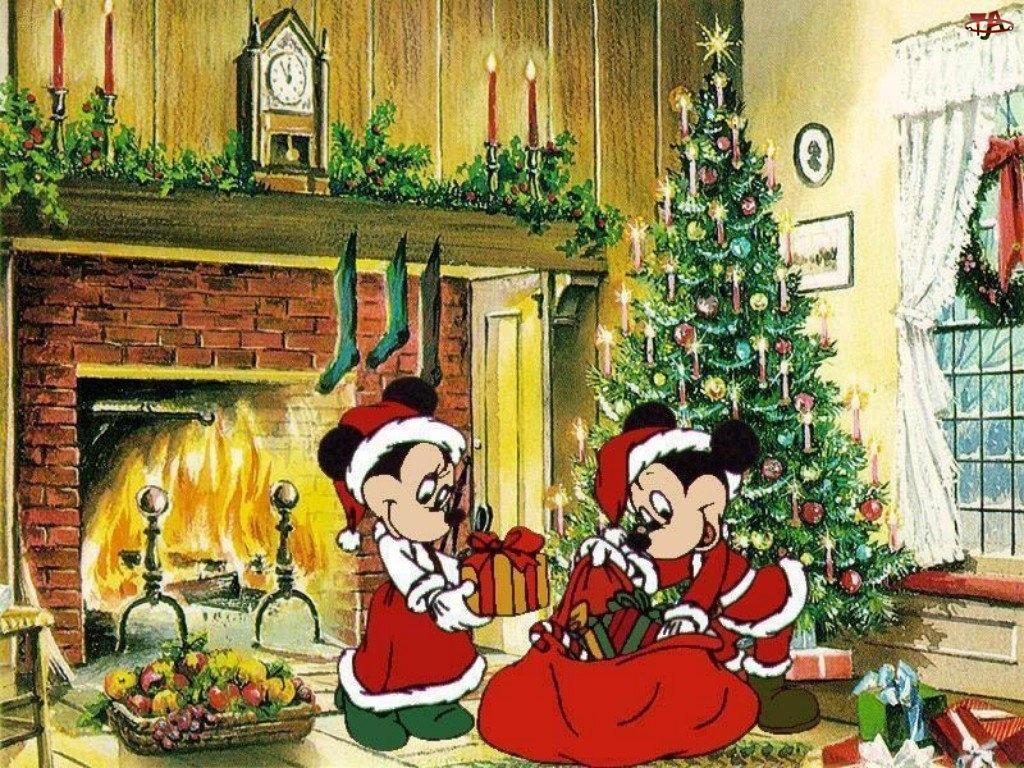 Myszka Miki, Boże Narodzenie, choinka