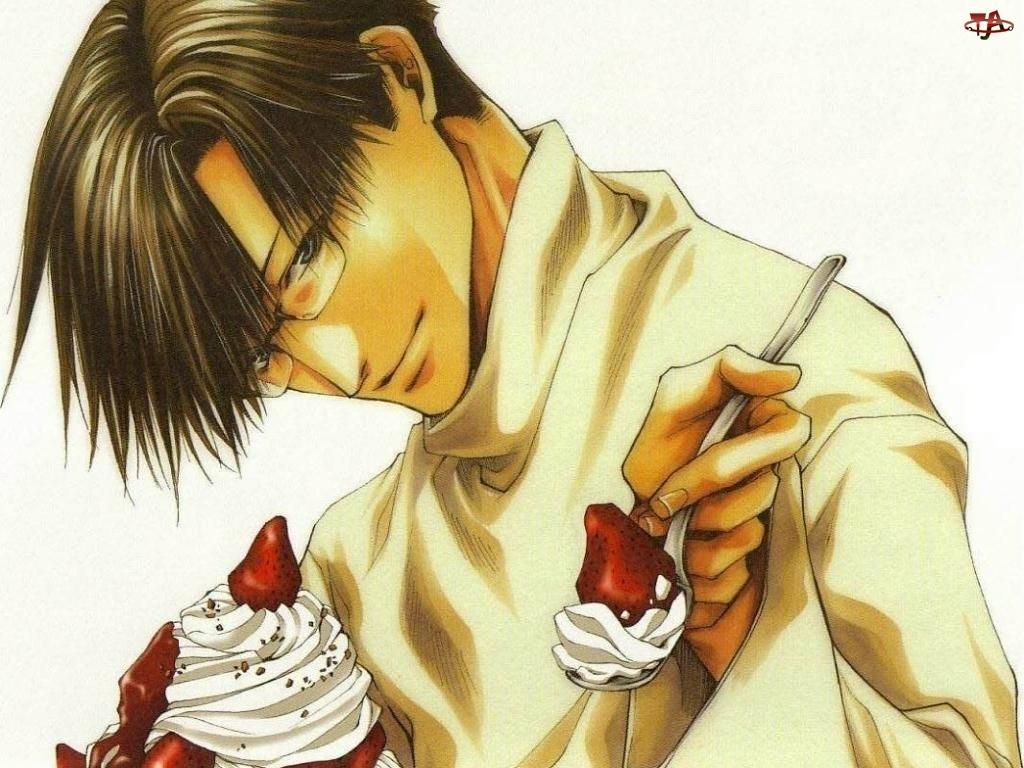 śmietana, Saiyuki, truskawka