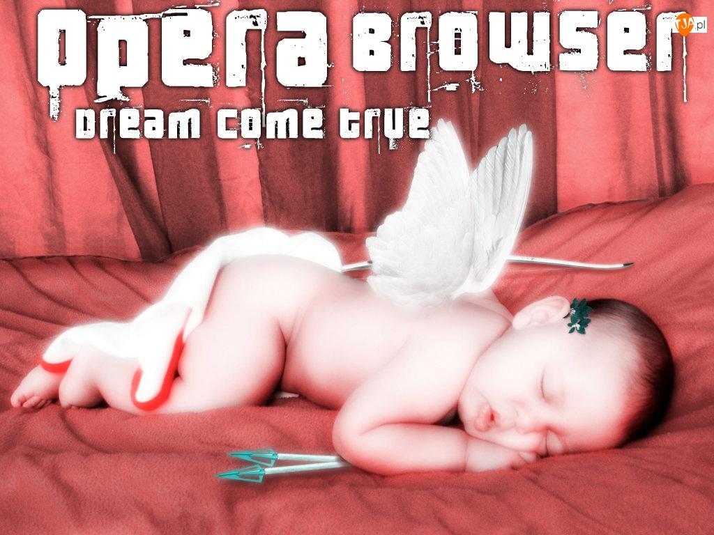 bobas, łuk, amorek, strzała, dziecko, Opera