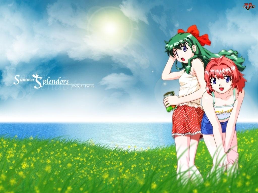 dziewczyny, Onegai Twins, polana