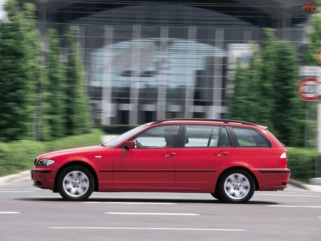 Kombi, Czerwony, BMW E46