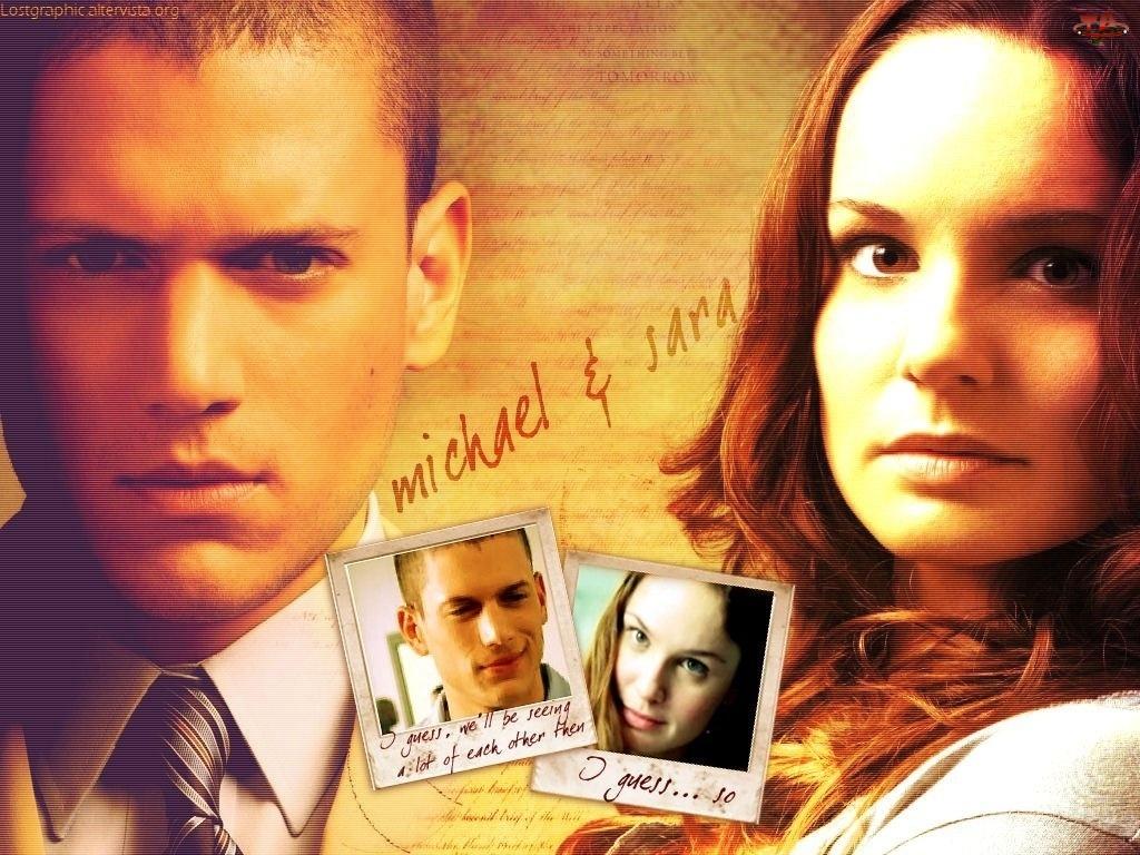 Prison Break, krawat, Sarah Wayne Callies, Wentworth Miller
