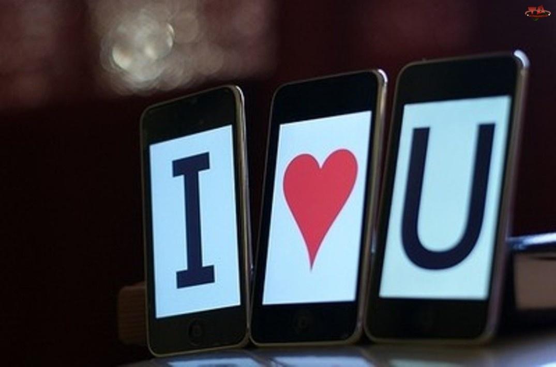 Miłość, Telefon, Tapeta