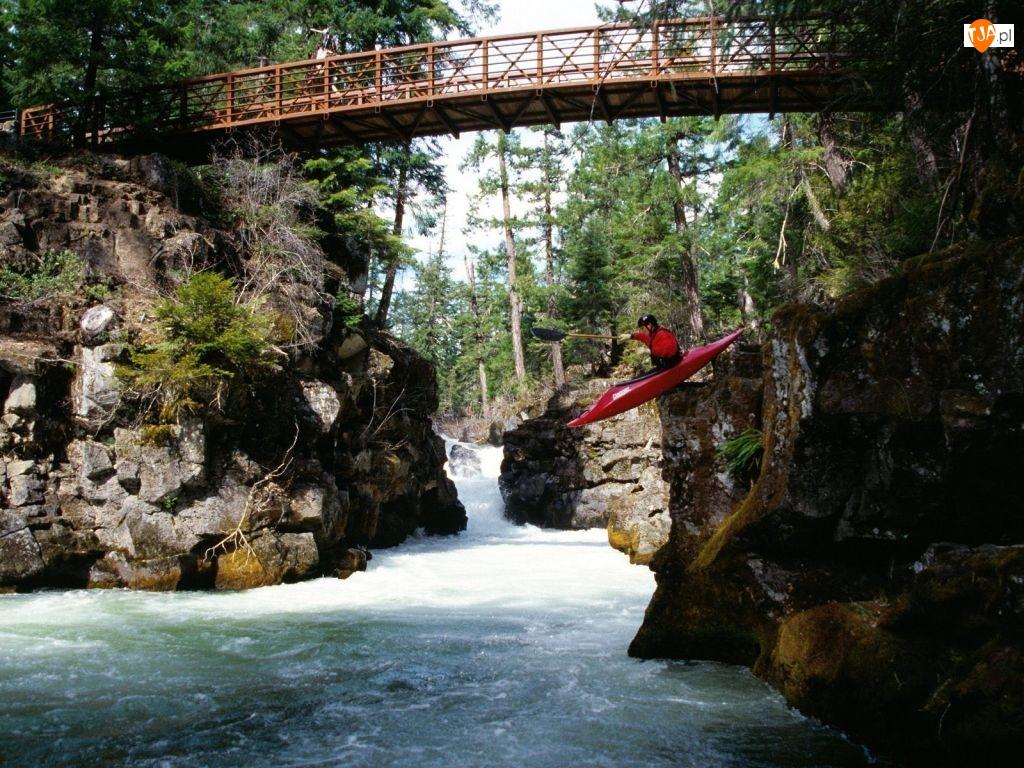 Rzeka, extremalne Kajakarstwo, Mostek