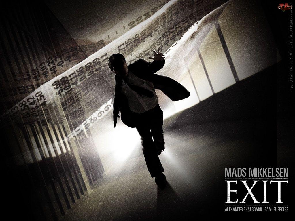 Exit, mężczyzna, biegnie