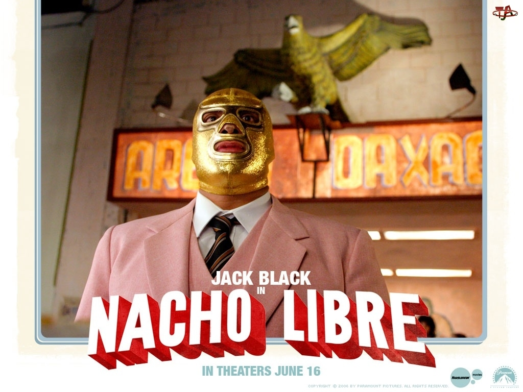 ptak, Nacho Libre, różowy, maska, garnitur