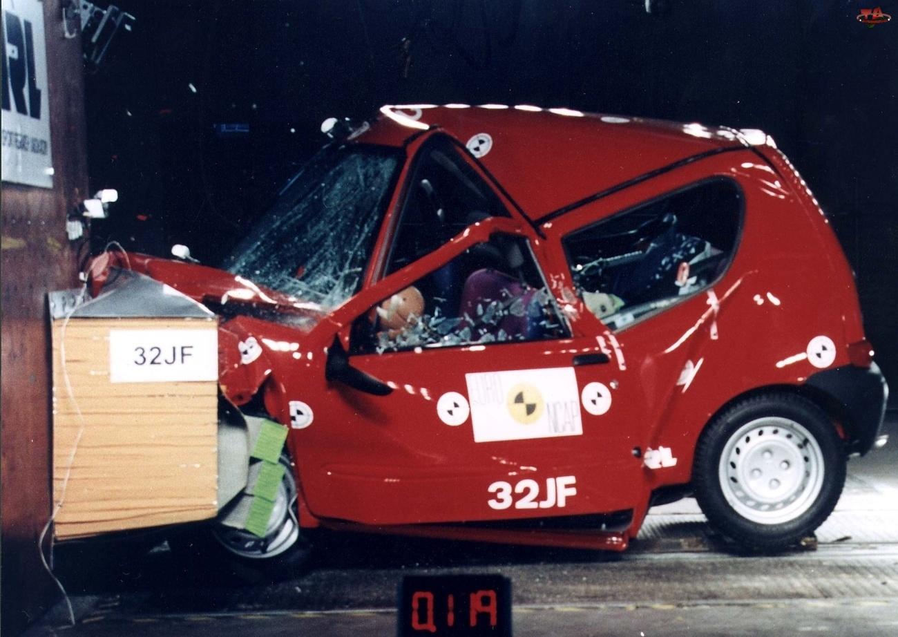 Test, Fiat Seicento, Crash
