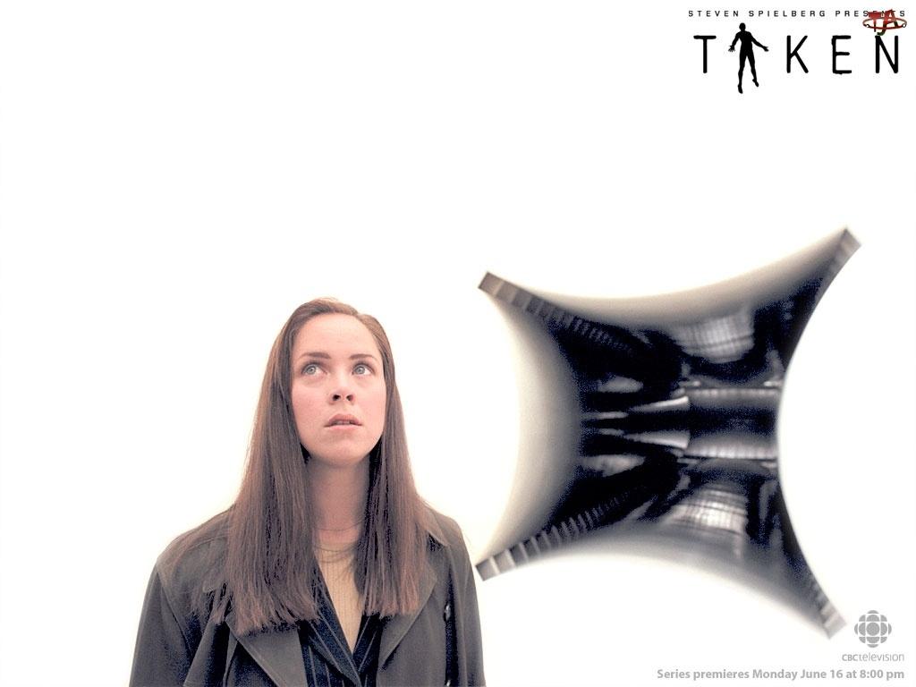 Film Taken, przerażenie, kobieta, tło