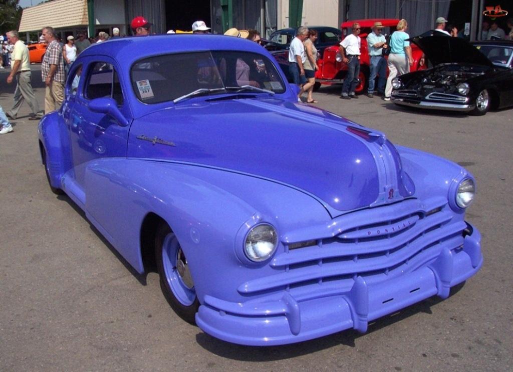 niebieski kolor, Pontiac, Samochody Zabytkowe