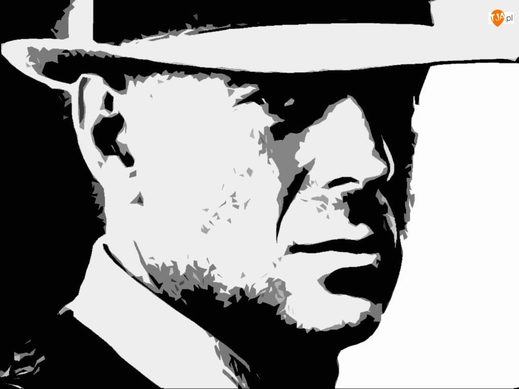portret, Bruce Willis, niewyrażny