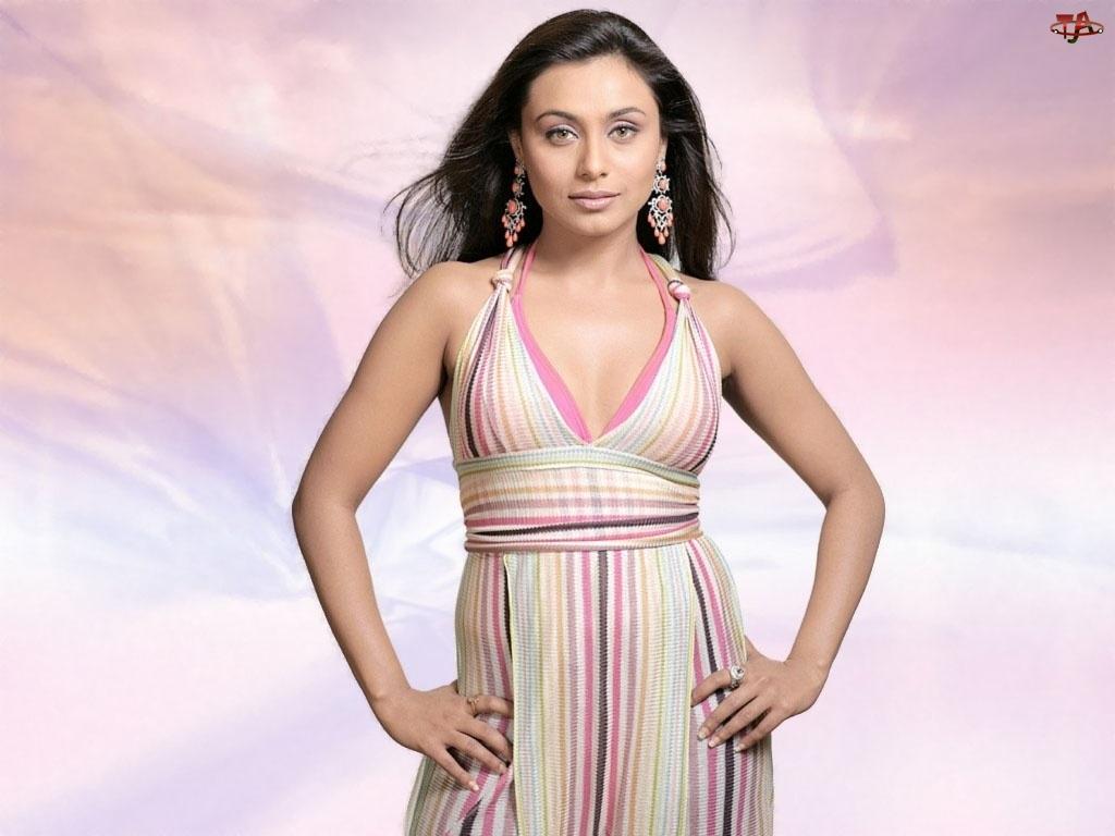 Mukherjee, Aktorka, Suknia, Bollywood, Paski