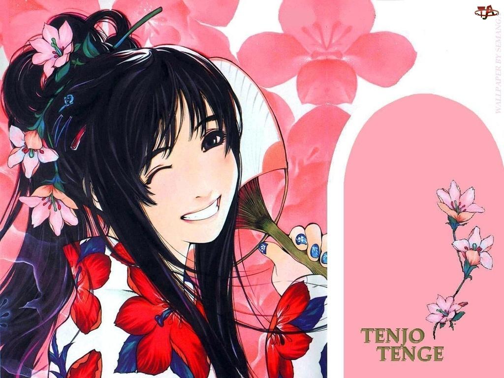 Tenjo Tenge, kwiatki we włosach