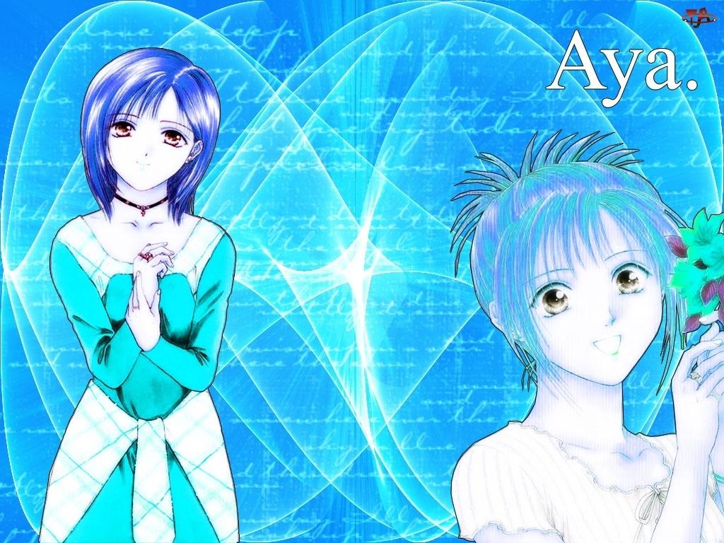 Ayash No Ceres, kwiatek, kobiety, napis