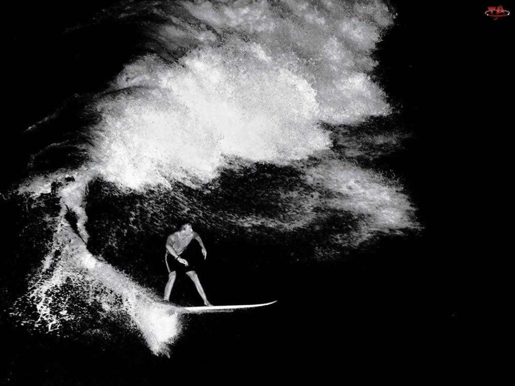Windsurfing, sepia