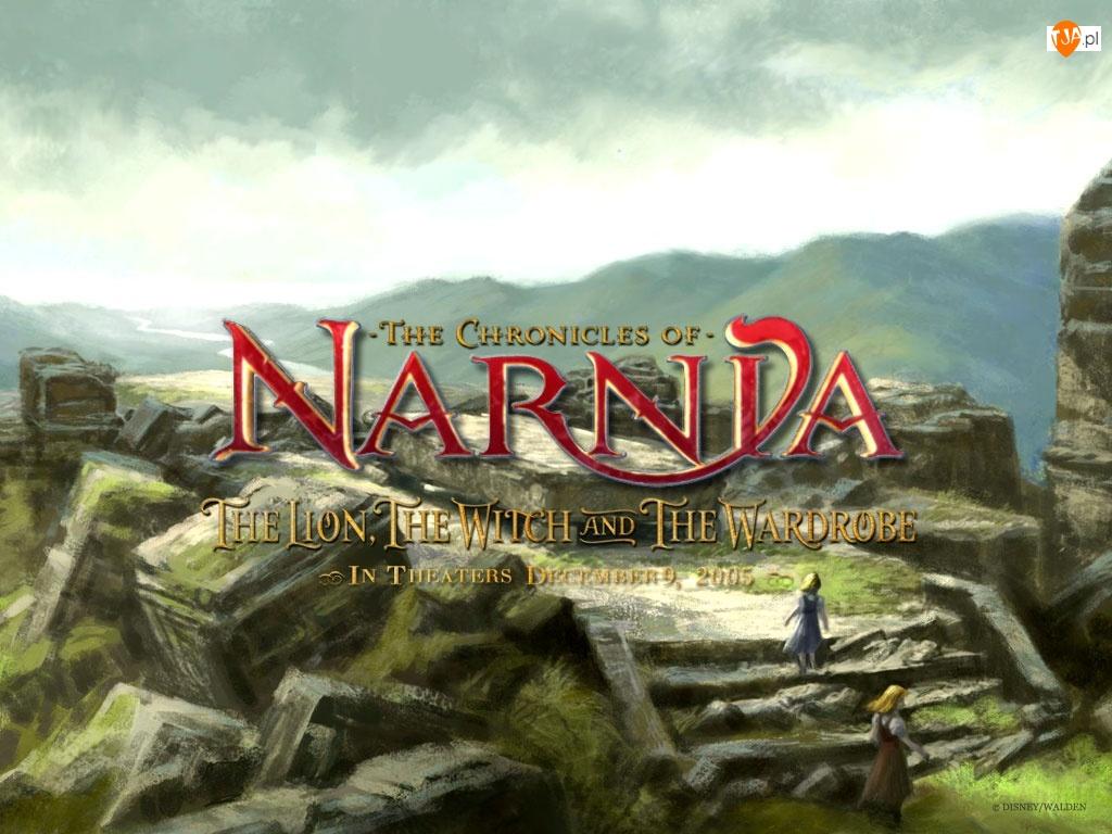 The Chronicles Of Narnia, dziewczynki, ruina, góry