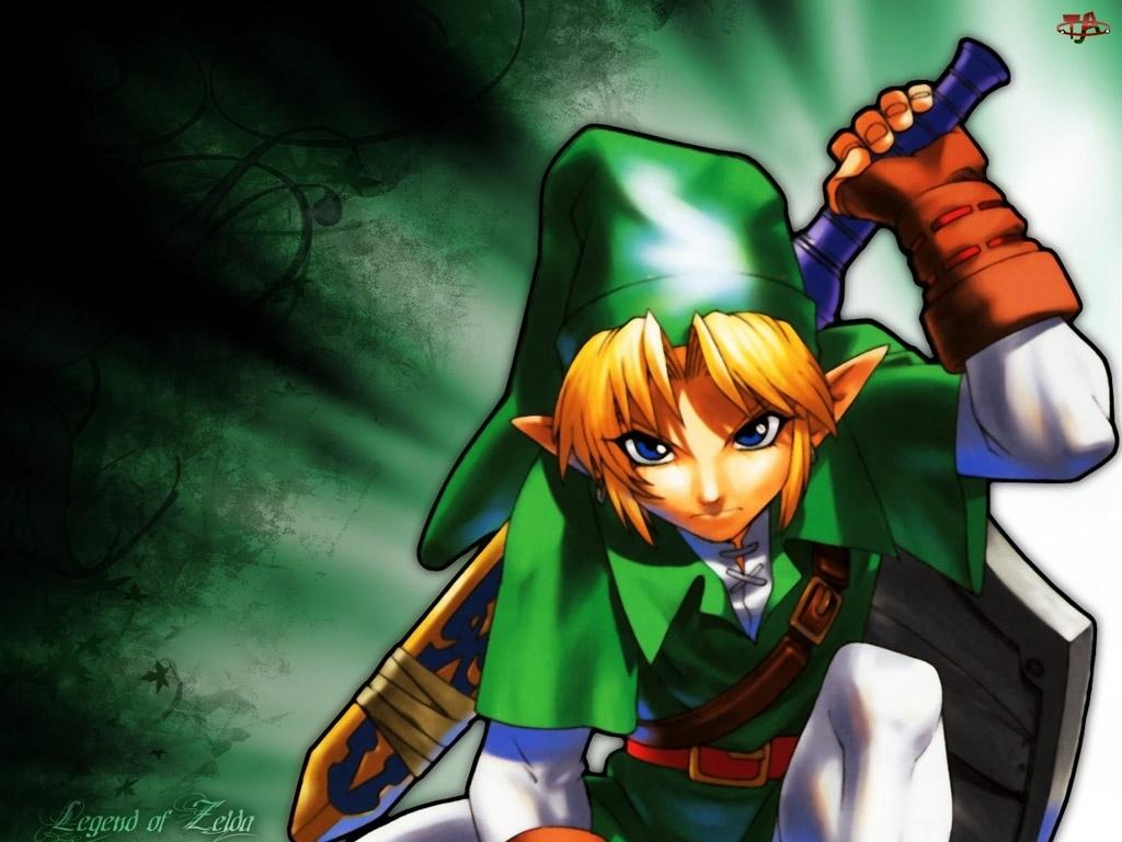Legend Of Zelda, elf, postać, miecz