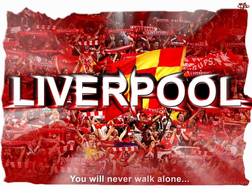 Flagi, Napis, Szaliki, Liverpool