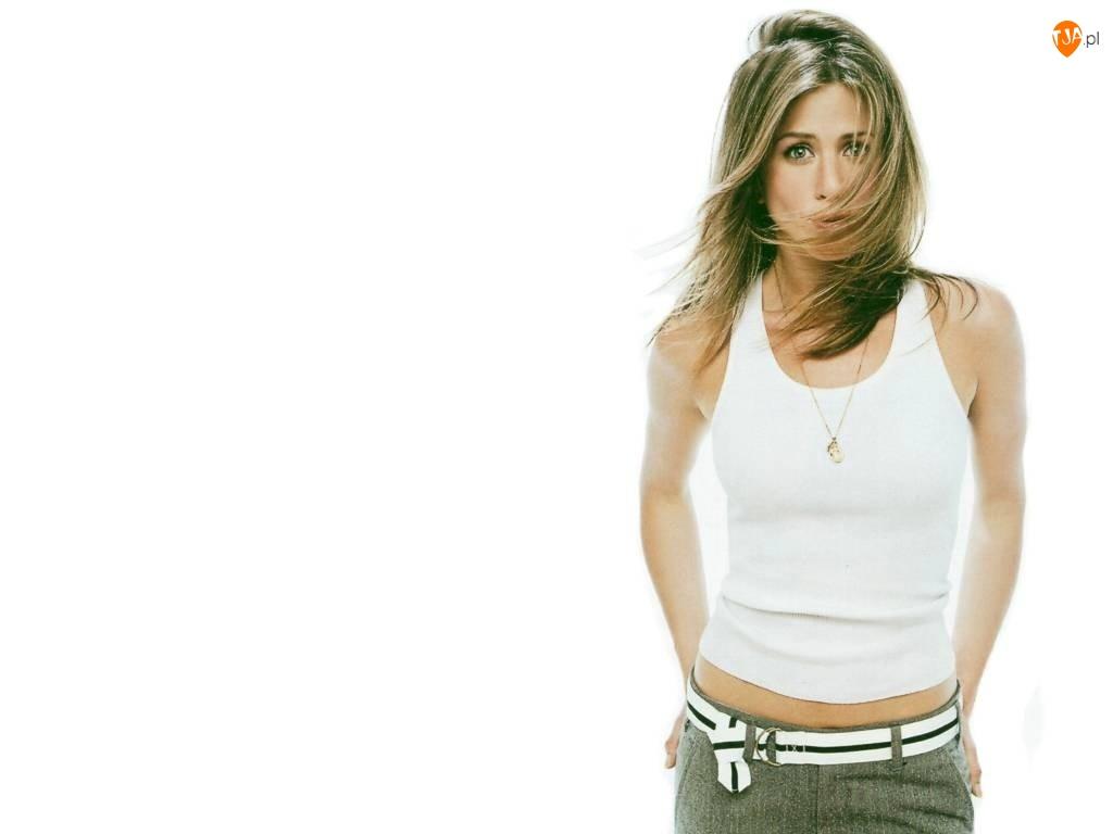 Jennifer Aniston, Biała, Koszulka