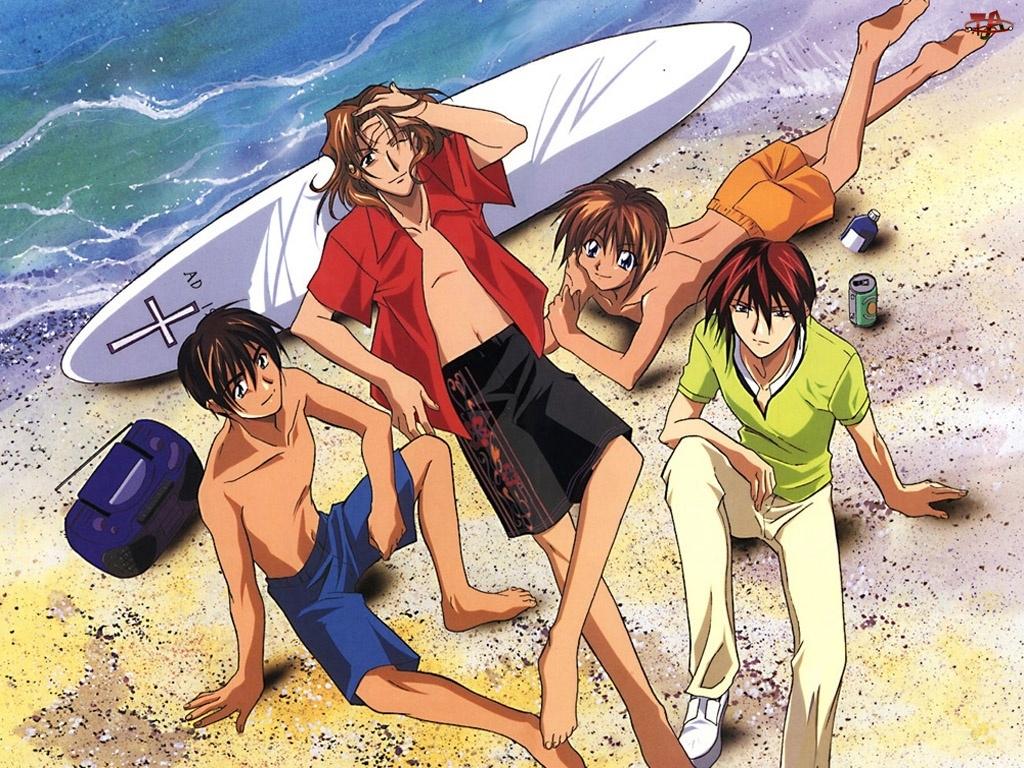 Weiss Kreuz, plaża, chłopcy