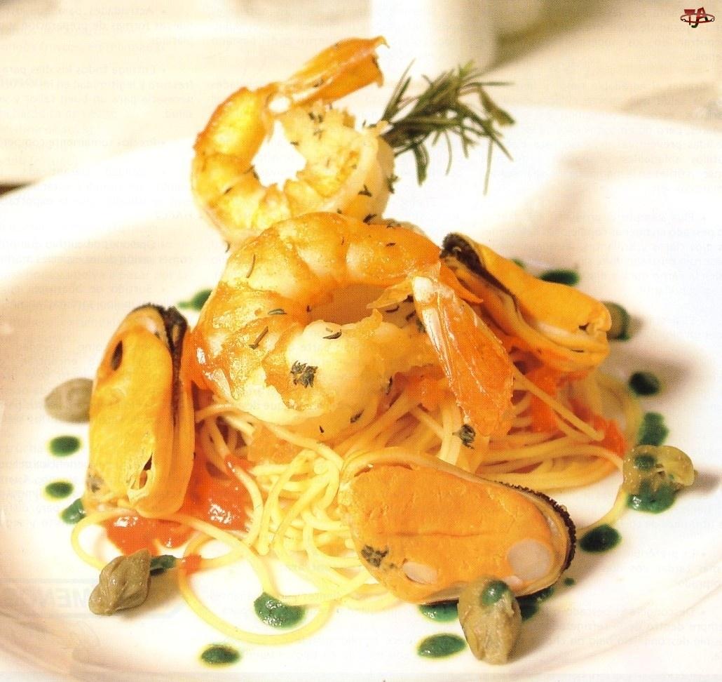 Krewetki, Spaghetti