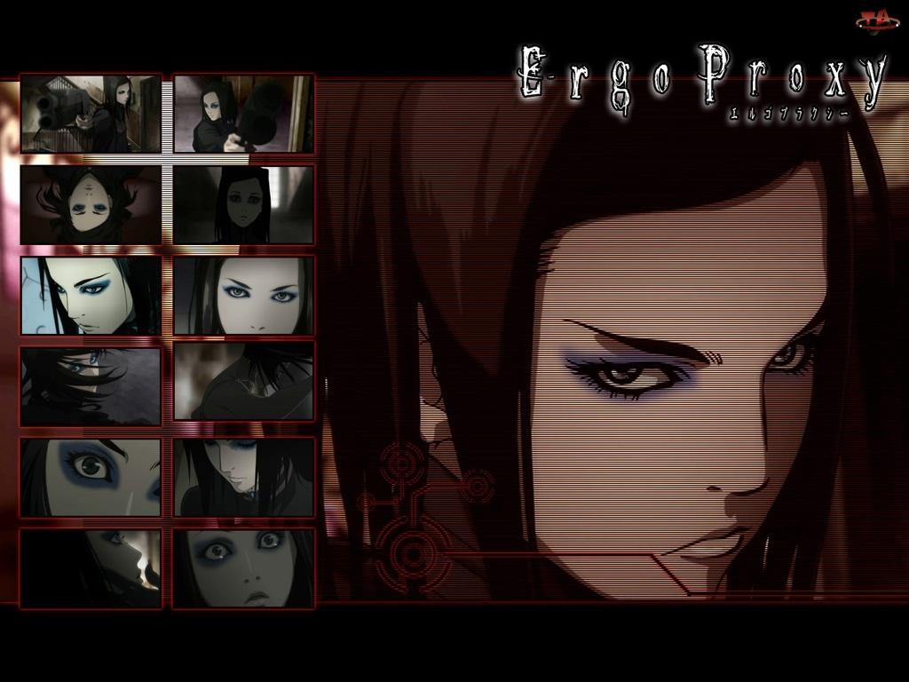 kobieta, Ergo Proxy, złość, zdjęcia, napisy