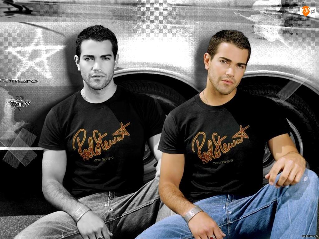 czarna koszulka, Jesse Metcalfe