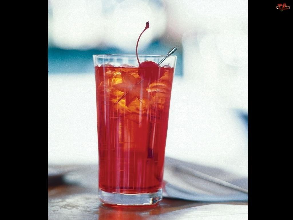lód, Drinki, wisienka