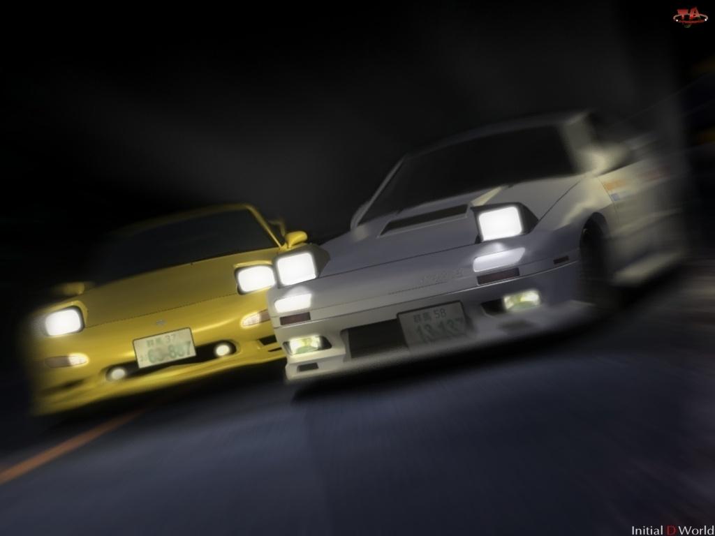 Initial D, noc, race, samochody