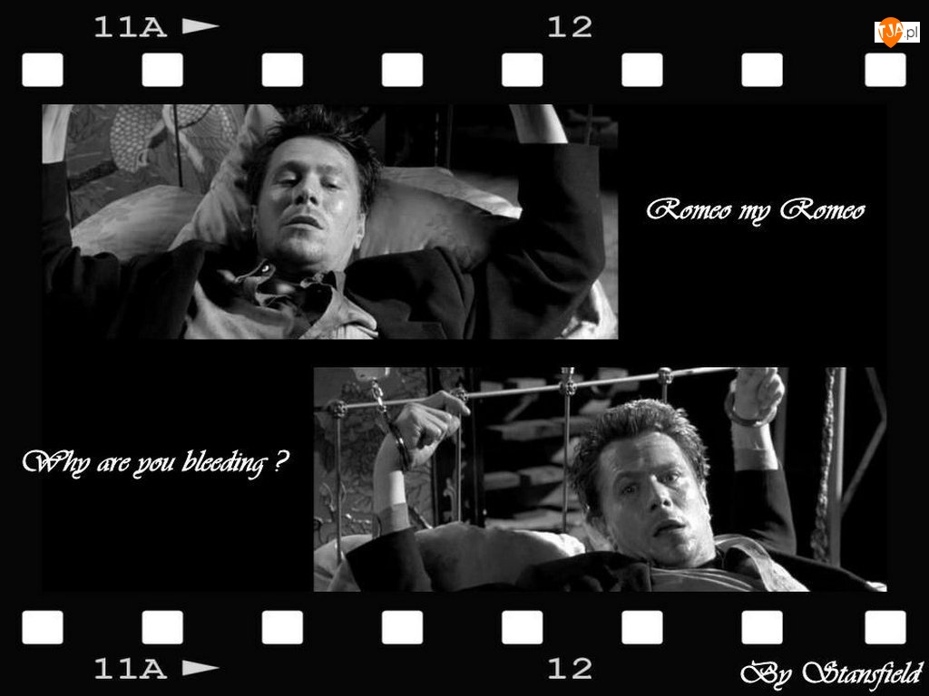 kajdanki, Gary Oldman, łóżko