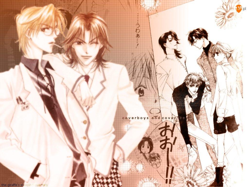 Hana Zakari No Kimitachi E, cover, okładka, boys