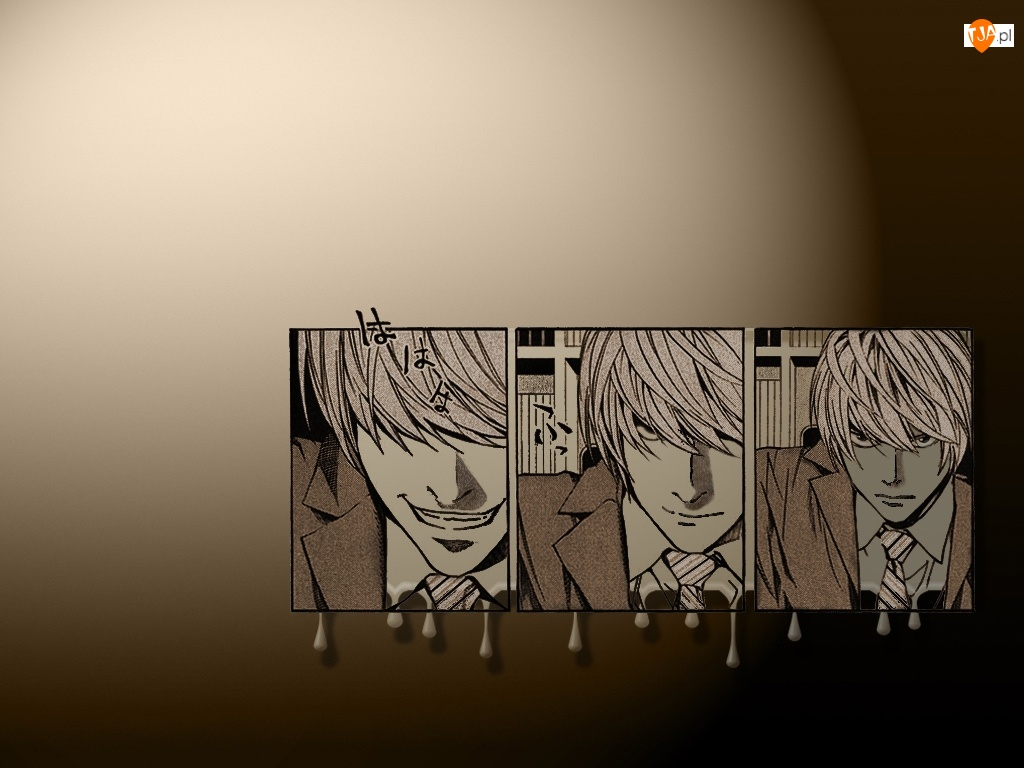 Death Note, krawat, zdjęcia, twarze