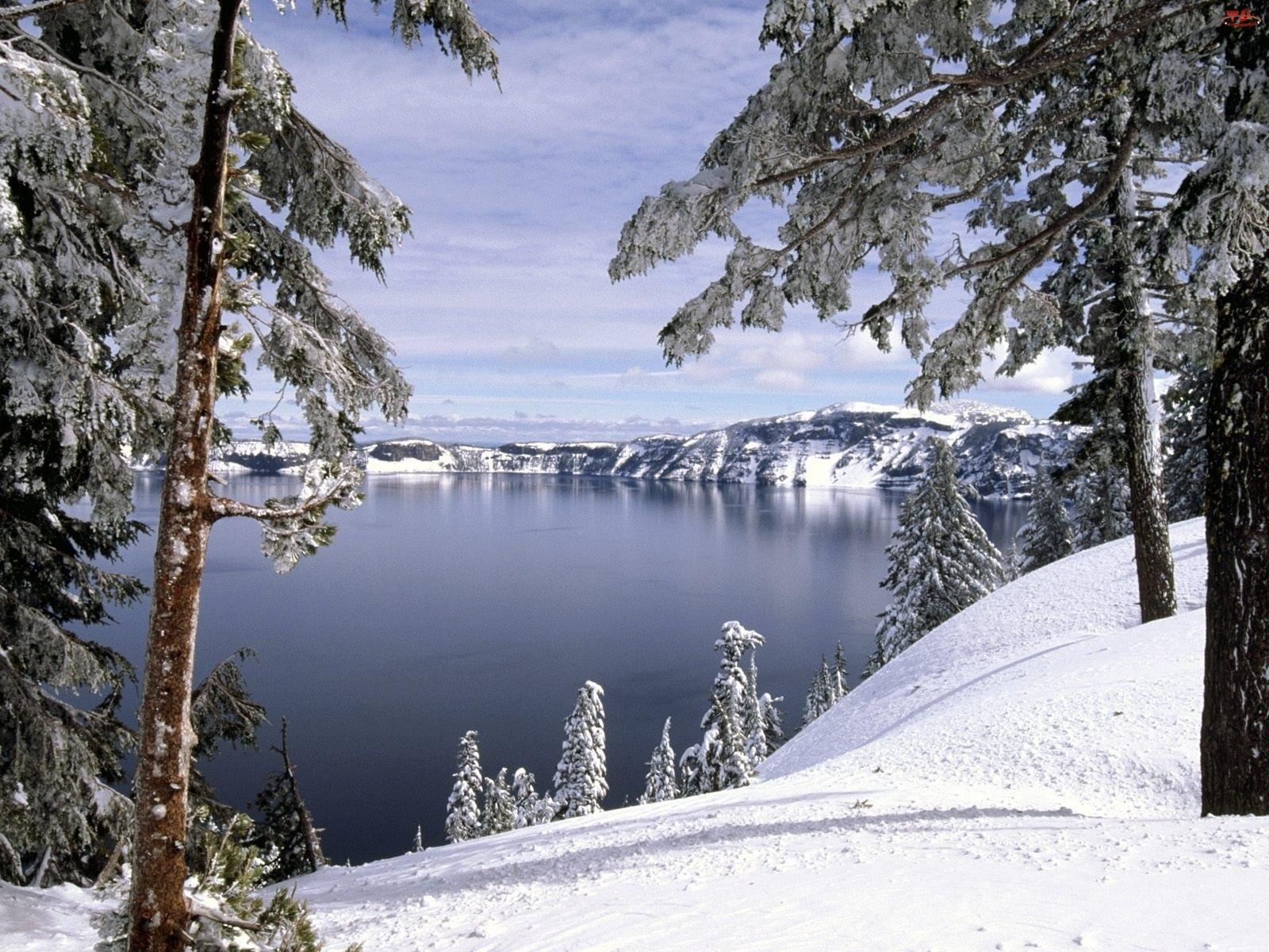 Jezioro, Zbocze, Góry