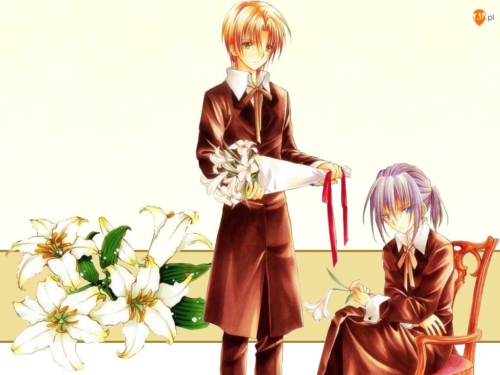 Spiral, bukiet kwiatów