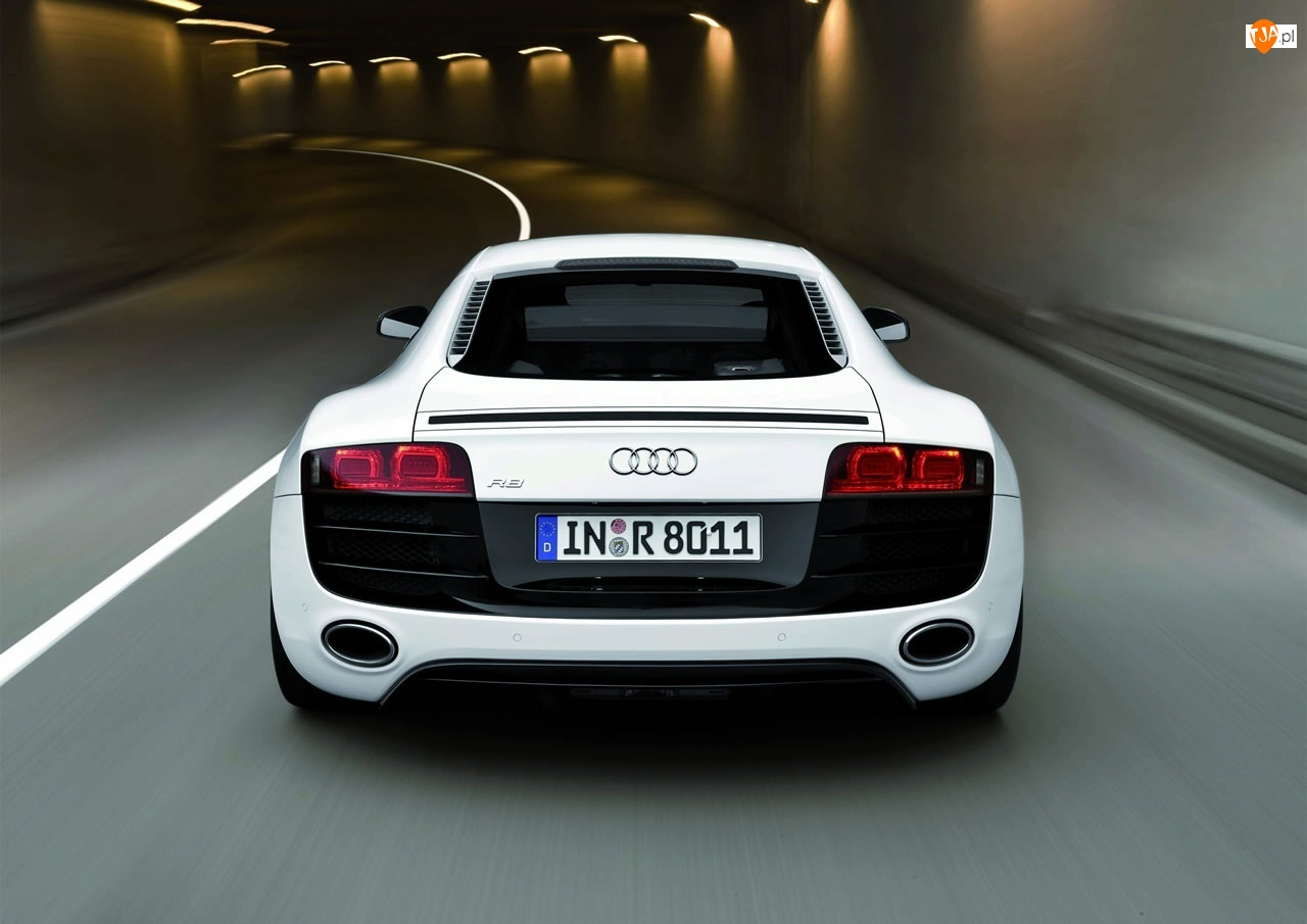 Audi R8, Parkowania, Tunel, Czujniki