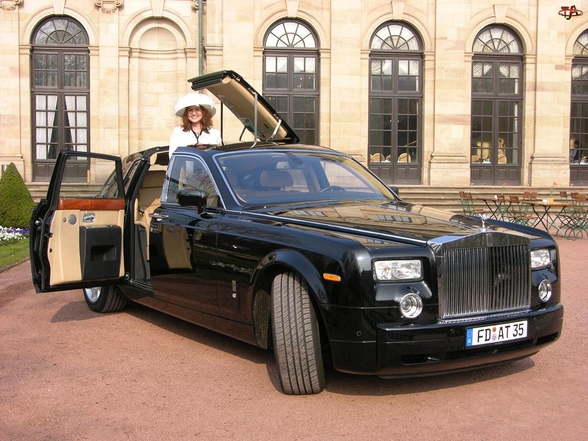 Szyberdach, Rolls-Royce Phantom, Kobieta