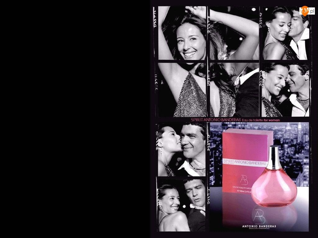 flakon, kobieta, spirit, Antonio Banderas, perfumy, aktor, mężczyzna