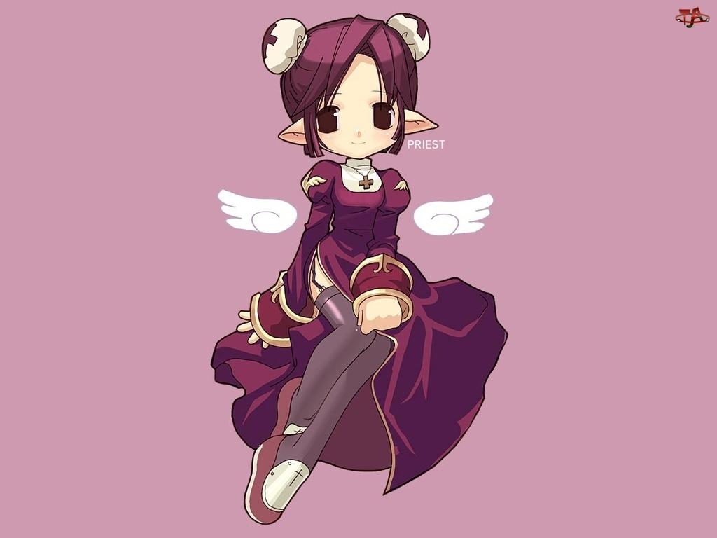 skrzydła, Ragnarok, aniołek, kobieta
