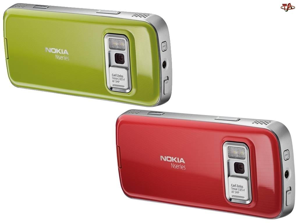 Tył, Nokia N79, Zielona, Czerwona